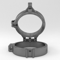 Flip Diopter Halterung für Seacam MIP Port